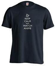 Anime T Shirt Keep Calm and Watch Anime Vein Pop Angry Symbol Manga Xmas Present