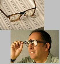 Clip On Flip Up Magnifying Reading Glasses Magnifiers Lenses x1.5 x2.5 x3.0 x4.0