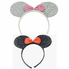 Mini Mouse Ears Sparkly With Bow on an Aliceband Headband Fancy Dress Hen Nights