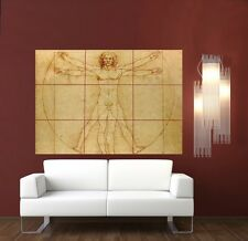 Davinci Vitruvian Man XL Section Wall Art Poster A115