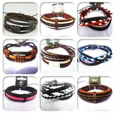 men women girls boys leather surf surfer  bracelet  wristband