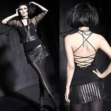 PUNK RAVE Leatherstrip Mini Rock Mini Skirt EDEL PUNK GOTHIC ROCK VISUAL KEI VK