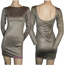 New Ladies Pinned Basic Knitted Cardigan Snake effect scope Dress Top Clearance
