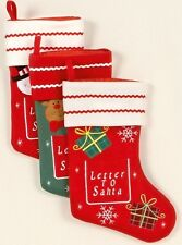 Christmas stocking with letter to santa christmas stocking letter to santa xmas filler decoration presents new spiritdancerdesigns Gallery