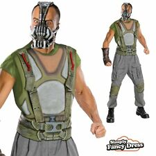 Mens The Dark Knight Rises Deluxe Bane Batman Fancy Dress Costume
