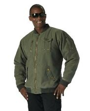 8653 Rothco Vintage Olive Drab CWU-99E Enhanced Cotton Military Flight Jacket