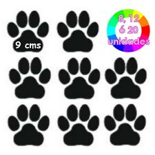 PEGATINA VINILO 8, 12 ó 20 HUELLAS DE GATO PERRO COLOR CAT DOG STICKER DECAL