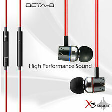 X3 SOUND OCTA-8  iPHONE IN-EAR EARPHONE WITH MIC & REMOTE iPOD iPHONE 5