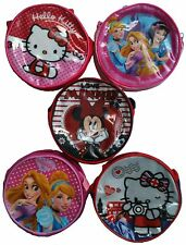 KIDS GIRLS DISNEY HELLO KITTY CHARACTER COIN PURSE MINI PURSE WITH ZIP & STRAP