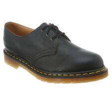 Mens Dr Martens 1461 3 Eye Gibson Lace Up Shoe Black Nappa 11838001