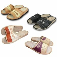 Ladies, Women`s, Leather Slippers, Shoes size 3, 4, 5, 6.5, 7, 8