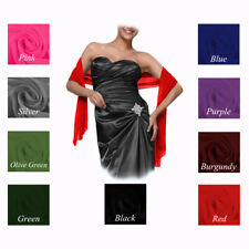 Stunning Wedding Bride Bridesmaids Prom Dress Chiffon Sash Shawl Stole Wrap