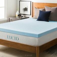 "NEW! COOL 3"" ULTIMATE COMFORT PLUSH MEMORY FOAM GEL BED MATTRESS PAD TOPPER"