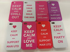 New Apple iPhone 4 & 4S Keep Calm And Support Man Utd Hard Back Case Cover
