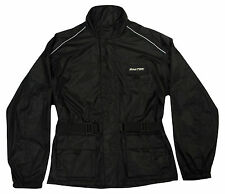 New Cycling / Walking BIKETEK Rain Jacket In Black Free P&P