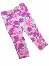 George Baby Girls Bright Pink/Purple/Blue Floral Print Trousers 1st Size-24mths