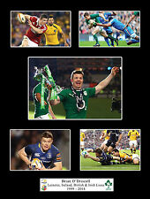 Brian O'Driscoll - Retirement - Ireland Leinster Lions Rugby Mounted Photo Gift