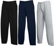 FRUIT OF THE LOOM JOG PANTS Sweatpant Jogginghose Hose Open Leg-S M L XL XXL(2)