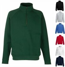 FRUIT OF THE LOOM Sweatshirt New Zip Neck Raglan Langarm Freizeit-S M L XL XXL-2
