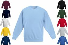 FRUIT OF THE LOOM KINDER SWEAT SHIRT Set-In Langarm-104 116 128 140 152 164(2)