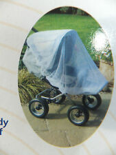 BRAND NEW CLIPPASAFE PRAM & PUSHCHAIR UNIVERSAL INSECT NET  WHITE BNIB