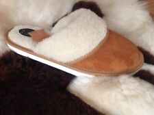New Red Slippers Sheepskin Woolen Chestnut Shoes Suede Leather Size 3 4 5 6 7 8