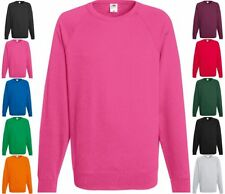 FRUIT OF THE LOOM Lightweight Raglan Sweat Shirt langarm Freizeit-S M L XL XXL-0