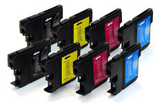 2 FULL Sets of LC980 / LC1100 Compatible Cartridges [8 INKS] [Not Brother OEM]
