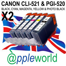 10 CLI-521 & PGI-520 CHIPPED Ink Cartridges compatible with CANON PIXMA printers
