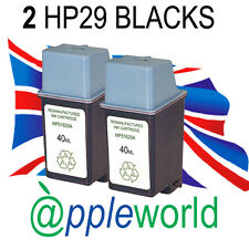 2 HP29 High Capacity Remanufactured Ink Cartridge [51629a] Officejet Deskjet FAX