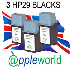 3 HP29 High Capacity Remanufactured Ink Cartridge [51629a] Officejet Deskjet FAX