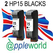 2 HP15 High Capacity Reman Ink Cartridges [C6615a] Deskjet PSC Officejet
