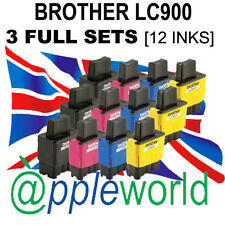 3 FULL SETS of LC900 Compatible Ink Cartridges (Bk,C,M & Y) [Not Brother OEM]