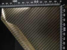 Hydrographic film Gold True Carbon fibre water transfer HugasLTD  ROLLED ONLY!