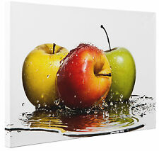 Canvas Apple Fruit Splash Abstract Wall Art Print Picture Large or Small a1 a2