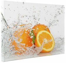 Orange Fruit Splash Abstract Canvas Print Wall Art Picture Large or Small a1 a2