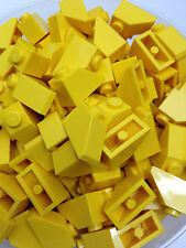LEGO 3040 - Yellow Slope Roof Tile 1X2 / 45 D. Angle - 25 Pieces Or 50 Pieces