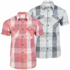 Mens Shirt By Voi Jeans 'Cortez' Short Sleeve Big Check