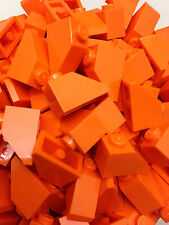 LEGO 3040 - Orange Slope Roof Tile 1X2 / 45 D. Angle - 25 Pieces Or 50 Pieces