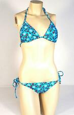 Rampage Swim 2 Piece Blue Floral Bikini Swim Suit Womans NWT $104