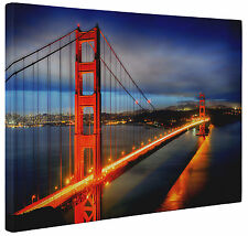 Abstract Golden Gate Bridge Canvas Print Red Blue Wall Art Picture a1 a2