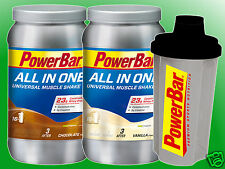 (33,75€/kg)   Powerbar All In One Universal Muscle Shake - 2x1000g + Mix Shaker