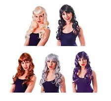 #TEMPTRESS LADIES GOTHIC WIGS ALL COLOUR FANCY DRESS COSPLAY COSTUME ACCESSORY