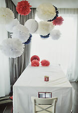 90 tissue paper pompoms - 3 sizes - wedding party decorations - multi color