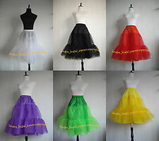 "Clearance Lady 50's Vintage 26"" Long Tutu Rock n' Roll Petticoat Underskirt"
