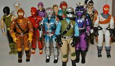 1987 Gi joe action force figures WORMS Falcon Raptor Ice Viper Big boa
