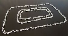 3.5mm 925 Sterling Silver Curl Heart Link Chain ~ Bracelet, Anklet, OR Necklace