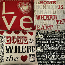 "Love,Home is Where Heart is,Live Well,Tapestry Cushion Covers 18""x18"" 45x45cm"