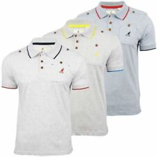 Kangol Polo T Shirt 'Is It' Speckle Short Sleeved