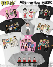 VIPwees Ladies T-Shirt Alternative Music Inspired Caricatures Choose Your Design